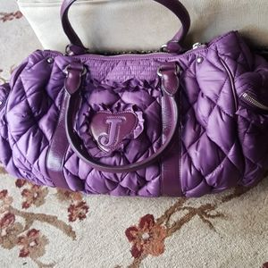 Juicy Couture Nylon Quilted Tote Bag, Purple